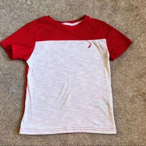 Like New Nautica Cream & Red Boy's T-Shirt